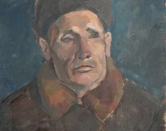 Antique portrait oil painting