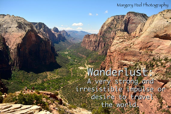 Zion National Park Quotes: Travel Quotes Wanderlust Color Photography Zion National