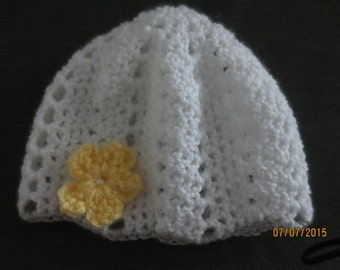adorable crocheted baby hat
