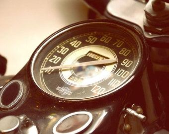 Time to Fly Harley Davidson Motorcycle Speedometer Color Photographic Image