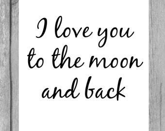 I love you cursive | Etsy