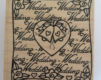 Funstamps 'Wedding Square' rubber stamp
