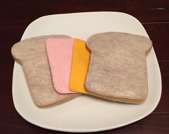 Pretend Felt Food Ham and Cheese Sandwich