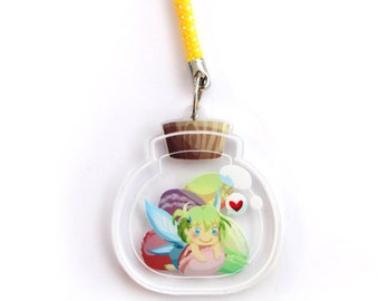 Doublesided 1.5 Inch Candy Fairy Charm
