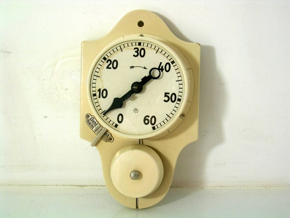 very rare egg timer kitchen timer clock junghans germany by flosil,