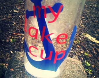 Personalized Wine Tumbler, My Lake Cup