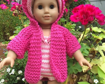 "18"" Doll Swimsuit, Cover-up, and Headband Hot Pink & Multi"