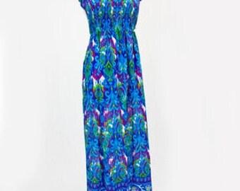 """53"""" Shirred Strapless Sun Dress"""