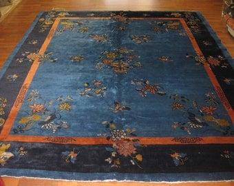 Antique Chinese Peking rug-3021