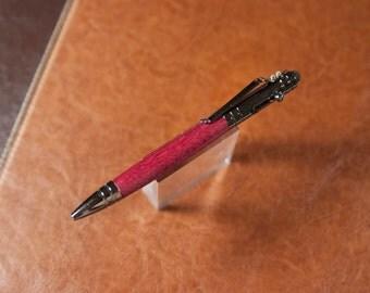 Bolt action Tech pen in Gun-Metal and Purple Heart