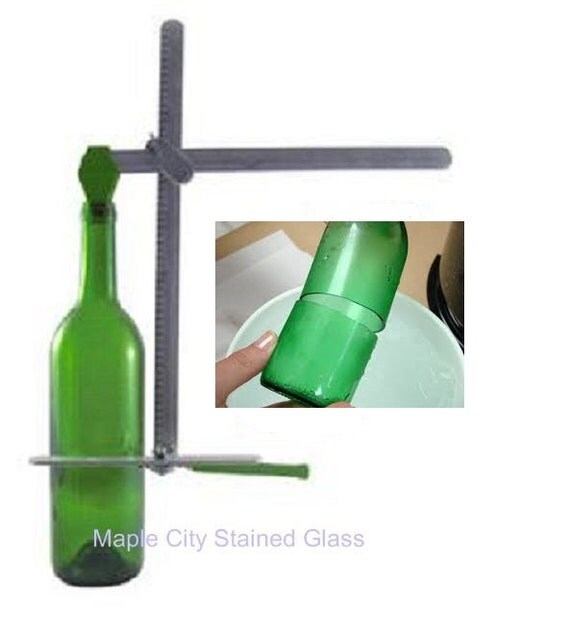 Diamond tech g2 generation green bottle cutter recycles wine for How to cut a beer bottle at home