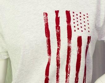 Vintage Flag screen printed t-shirt