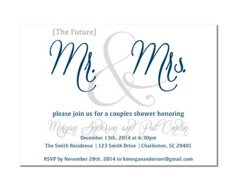 Mr and Mrs Couples Shower Invitation
