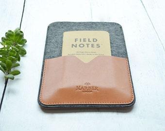 Handmade iPad Air 2, iPad Air Case Leather and Wool Felt Sleeve Cover
