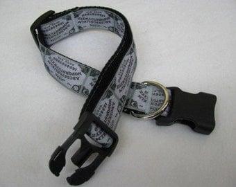 Halloween Ouija Board Dog Collar - MULTIPLE SIZES AVAILABLE