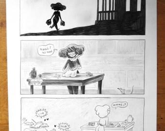 Dessin original - Les cousines vampires p.22
