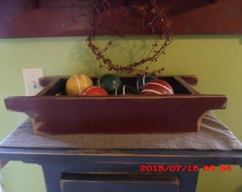 Primitive Rustic Wooden Bowl