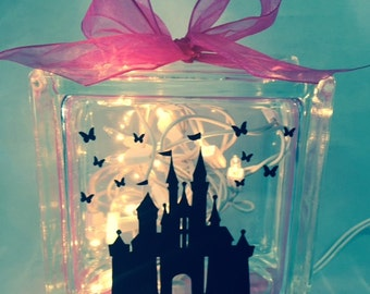 Disney Castle Glass Block Night Light