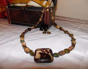 Hand Made Organic Look Necklace