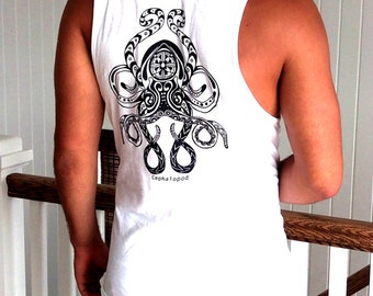 White Octopus Tank