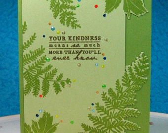 Your Kindness Means More...., Thank You, Thinking of You - Greeting Card (#30)