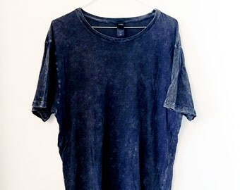 Acid wash black-grey t-shirt (L)