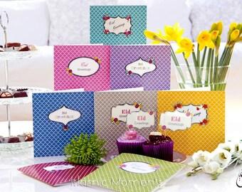Contemporary Eid Mubarak Card, Eid Card, Eid Greeting Card, Islamic Cards, Muslim Cards, Eid al Fitr