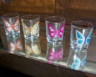 Glitter butterfly tumblers