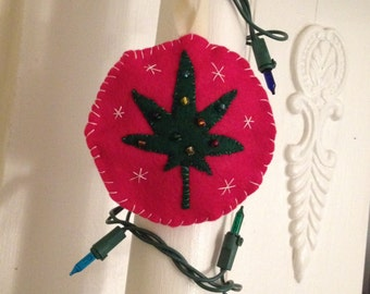 Happy Holidaze Felt Ornament