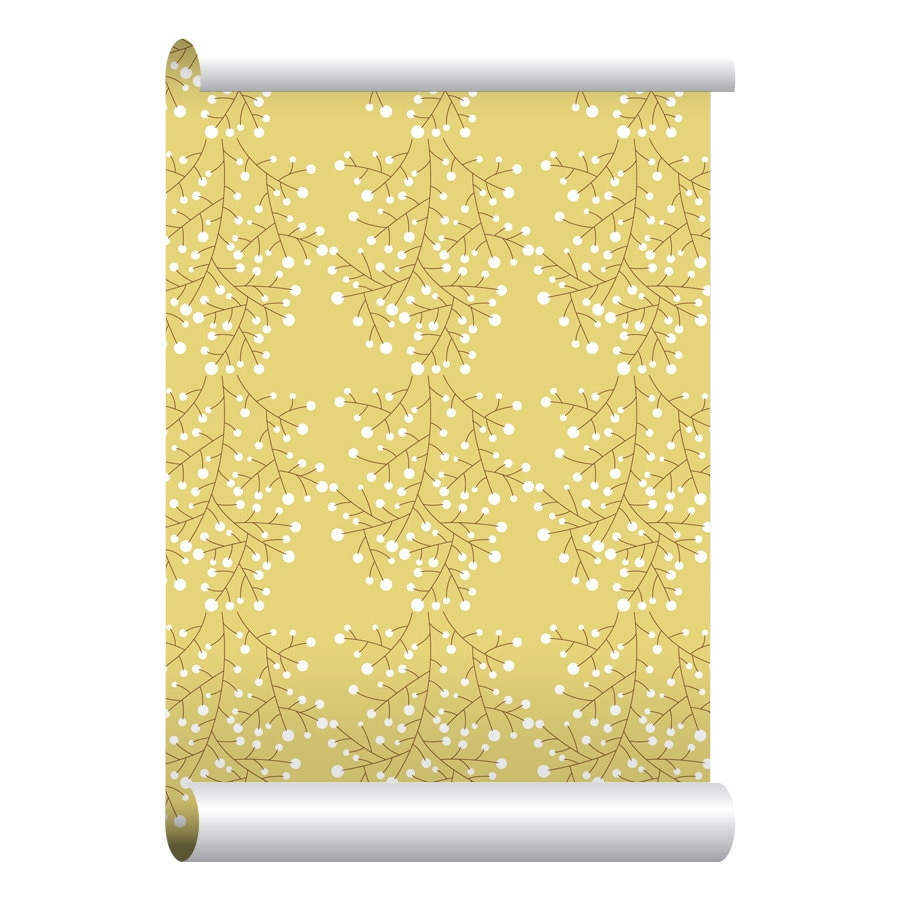 Self adhesive removable wallpaper spring branches wallpaper for Wallpaper with adhesive backing