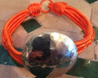 Moroccan 4 strand orange Sabra bracelet