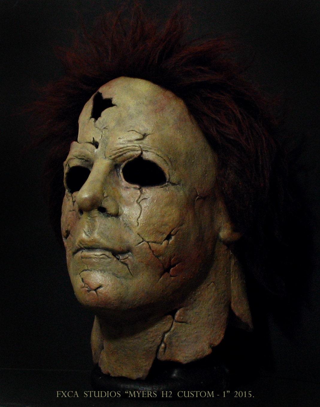 Rotten Psycho Myers H2 Custom Deluxe Latex Mask Halloween Rob