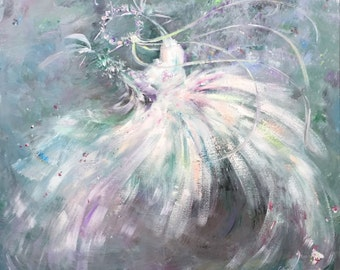 Original Canvas Tutu Ballerina Painting