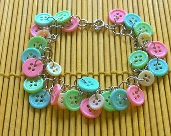 Pastel Button Bracelet