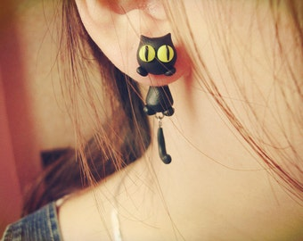 Cute Cat animal Stud Earrings