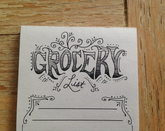 Grocery List Pad (with Magnet)
