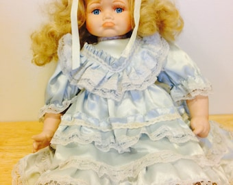 "Vintage 15""  Porcelain Doll From 1980's"
