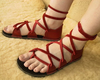4 Tab Chrome Tanned Leather Sandals
