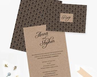 Gatsby Type Kraft - Wedding Invite