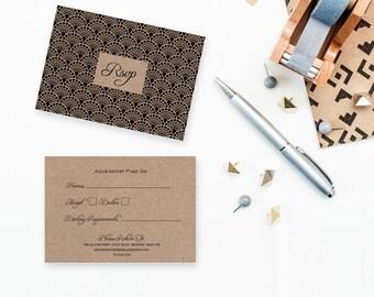 Gatsby / Art Deco Wedding RSVP