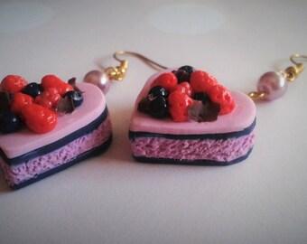 Love Berries Cake earrings