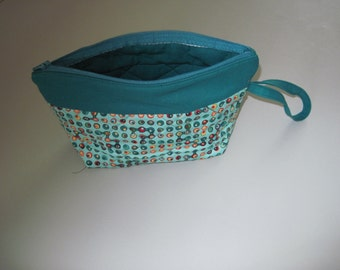 Teal Bag with Wrist Strap