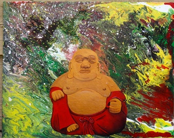 Buddha and Dragon Original Painting