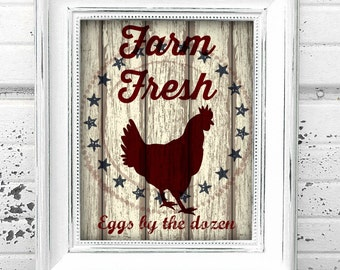 Printable Vintage Country Farm Chicken Sign