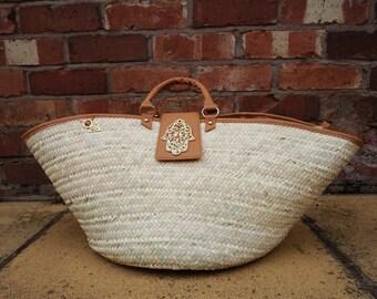 Woven wicker baskets Fatma tan (large)