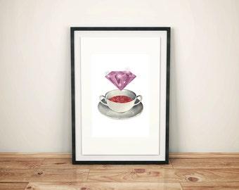 A5 print teacup