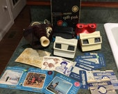 Huge Vintage Lot of View Master Viewers, Projector and Reels Rin Tin Tin, King Kong and More