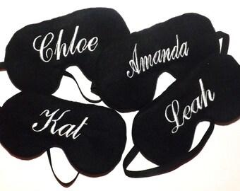 Set of 4 - Monogrammed Sleep Masks -  Reversible  -You Choose All