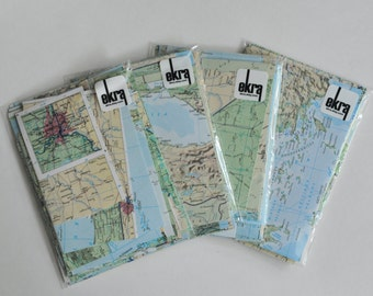 Map Paper Scrap Pack Wedding DIY Decorations Travel Themed Wedding 40+ pieces All Matching Scrapbook