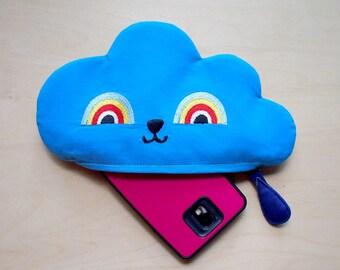Cloud Pouch, zipper pouch, zip pouch, BLUE CLOUD Zip Pouch, Cloud zip Pouch, Rainbow Pouch, Blue Cloud, phone pouch, clutch purse